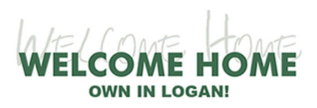 welcome home own in logan logo
